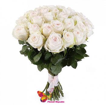 купить Букет из 35 белых роз Ecuador 60-70см в Кишинёве