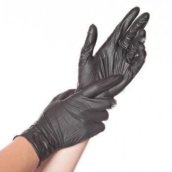 Перчатки NITRIL SAFE LIGHT, размер L, ЧЕРНЫЕ, 100шт, HYGOSTAR, FM