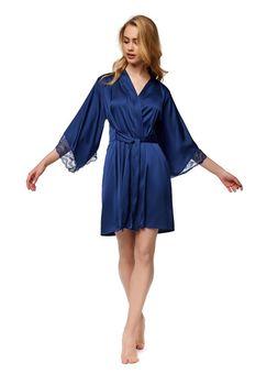 купить Халат шелковый Esotique 37317 L-XL синий в Кишинёве