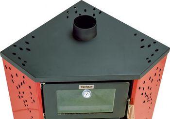 Печь твердотопливная - TEBA TKS-21 угловая