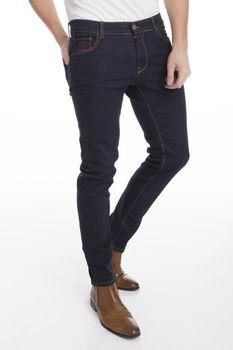 Pantaloni RNT 23 Albastru inchis cu rosu RNT23 1488