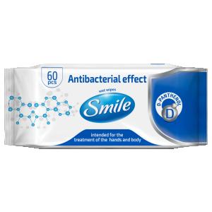 купить Салфетки антибактериальные Smile 60 шт в Кишинёве