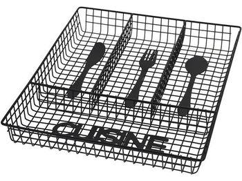 """Лоток для столовых приборов EH """"Cuisine"""" 32.3Х26сm, металл"""
