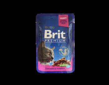 купить Brit Premium Cat Pouches with Salmon & Trout (Кусочки с лососем и форелью) в Кишинёве