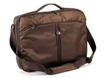 "CONTINENT NB bag 15.6"" - CC-02 V2 Chocolate, Clamshell"