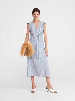 Платье RESERVED Синий в полоску xf204