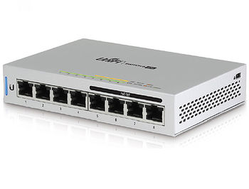 Ubiquiti UniFi Switch 8 (US-8-60W), 8-Port Gigabit RJ45, 4 ports Auto-Sensing IEEE 802.3af PoE, 60W, Non-Blocking Throughput: 8 Gbps, Switching Capacity: 16 Gbps, (retelistica switch/сетевой коммутатор)