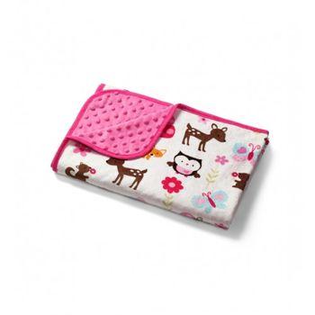 купить Плед Babyono Пузырьки 100x75 см розовый в Кишинёве