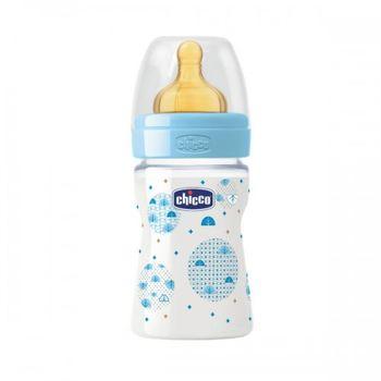 купить Chicco бутылочка пластиковая с латексной соской Well Being Boy, 150мл в Кишинёве
