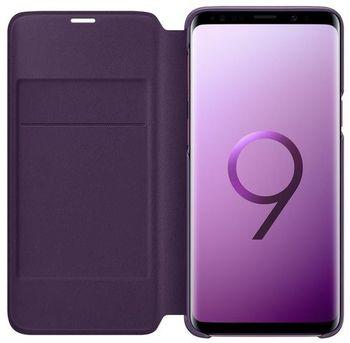 купить Чехол для моб.устройства Samsung EF-NG960, Galaxy S9, LED View Cover, Violet в Кишинёве