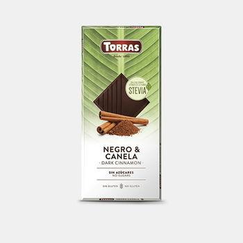 Шоколад темный со стевией и с корицой без глютена Torras 125г