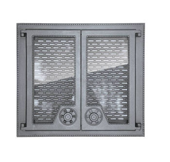 Дверца чугунная со стеклом двустворчатая FINLANDIA