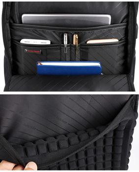 """купить Классический рюкзак Arctic Hunter B00120С для ноутбука 15.6"""", с USB портом, водонепроницаемый, чёрный в Кишинёве"""