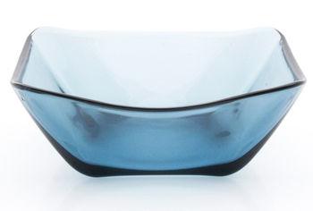Салатница стеклянная Nettuno 14.7Х15.2cm, голубая