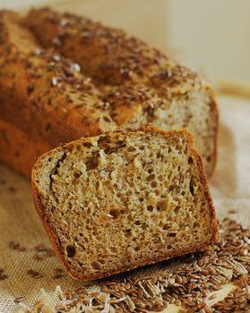 Хлеб из рисовой, леновой и гороховой муки, 240 г