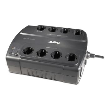 APC Back-UPS BE550G-SP, 550VA/330W, 8 x CEE 7/7 Schuko (4 Battery Backup, all 8 Surge Protected), RJ-11/ RJ-45 Data Line Protection, LED indicators