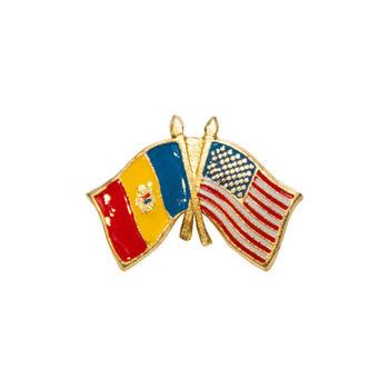 cumpără Insignă - Drapel SUA & Moldova în Chișinău