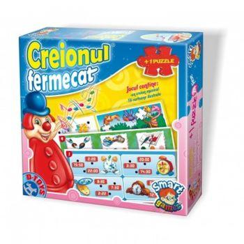Puzzle interactiv Creionul fermecat + puzzle 24 copii., Cod 41202