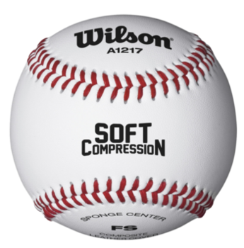 Мяч бейсбольный Wilson Soft Compression Baseball WTA1217B (4577)