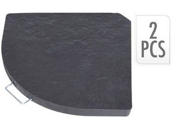 Набор сегментов подставки для зонтов 13kg, 2шт., бетон