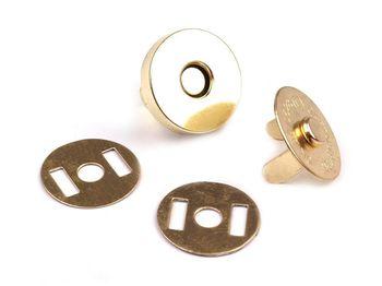 Capse magnetice, auriu, Ø18 mm