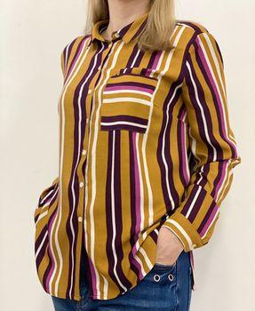 Блуза RESERVED Горчичный в полоску uv830-mlc