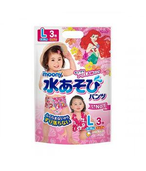 купить Трусики для плаванья Moony L (9-14 кг) для девочек 3 шт в Кишинёве