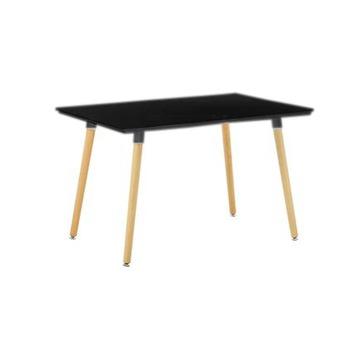 cumpără Masă dreptunghiulară cu suprafaţa din MDF, picioare din lemn, 1200x800x750 mm, negru în Chișinău