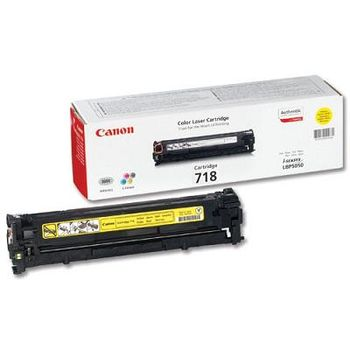 Cartridge Canon 718, Yellow (2900 pages) for LBP-7200Cdn, MF8540Cdn/8330Cdn/8350Cdn