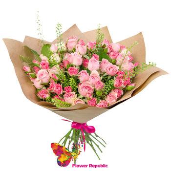 купить Нежно-розовый букет в Кишинёве