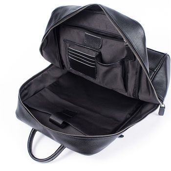 купить Деловой бизнес  Рюкзак из натуральной кожи, черный в Кишинёве