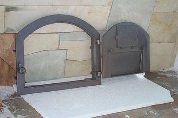 Дверца чугунная глухая правая PIZZA 2
