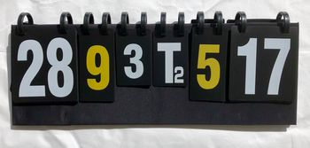 Перекидное табло для спортивных игр, 6 знаков 0816 (70x24 cm) (3869)