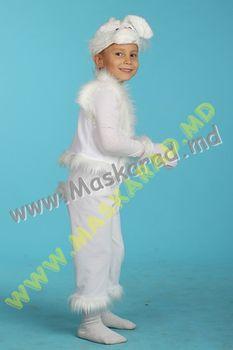 Карнавальный костюм: Зайчик белый