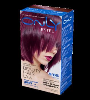 Краска для волос,ESTEL Only, 100 мл., 5/65 - Светлый шатен фиолетово-красный