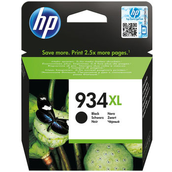 HP #934XL Black Officejet Ink Cartridge, Up to 1000 pages