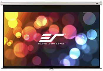 "Elite Screen 85""(1:1) 152.4x152.4cm Manual Pull Down Screen, White"