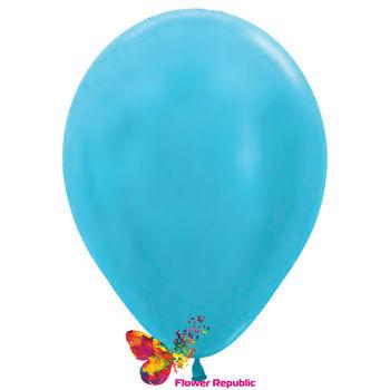 купить Воздушные шары , голубой  перламутр - 30 см в Кишинёве