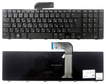 Keyboard Dell Inspiron N7110 5720 7720 Vostro 3750 XPS L702 ENG/RU Black