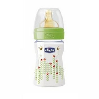 cumpără Chicco Biberon plastic Well Being tetină latex, flux normal, unisex 0%BPA, 0+, 150ml (206103) în Chișinău