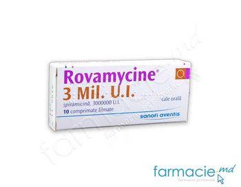 купить Ровамицин, таблетки в оболочке 3 млн МЕ N10 в Кишинёве