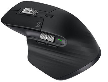 Logitech MX Master 3 Black Wireless Mouse, 2.4GHz Wireless+Bluetooth, Darkfield high precision, USB Unifying Receiver, Rechargeable Li-Po (500 mAh) battery, 910-005710 (mouse fara fir/беспроводная мышь)
