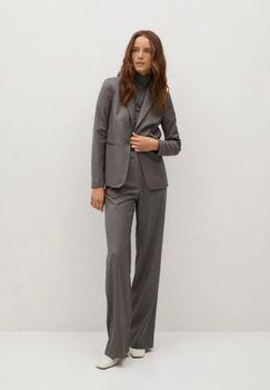 Пиджак MANGO Серый