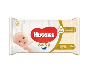 cumpără Şerveţele umede Huggies Elite Soft, 64 buc. în Chișinău
