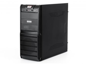 SPACER Galaxy ATX Case, (500W, 24 pin, 2xSATA, 12cm fan), 2xUSB/Audio, Black