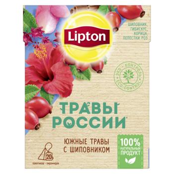 купить Lipton Травы России травяной чай в пирамидках с шиповником, 20 шт в Кишинёве