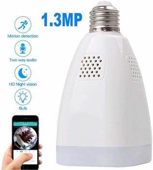 cumpără Lampă panoramică fără fir, wifi iP Cameră Loosafe LS-QJ69 pentru securitate la domiciliu,  Camera de 360 de grade HD, Rețea WIFI, Monitor de la distanță în Chișinău