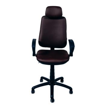 Офисное кресло Regbi коричневое (подголовник, neapoli 32)