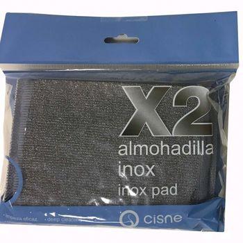 INOX PAD Губка-скребок для посуды 10х12 см (2 шт/уп)