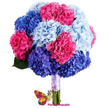 купить Огромный букет из  разноцветной Гортензии в Кишинёве